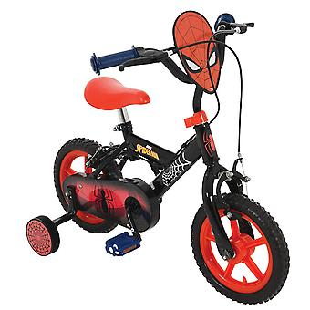 Spiderman My First 12inch Bike Black/Red MV Sports Ages 3 Years+
