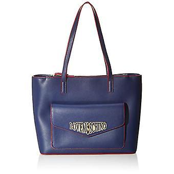 Liefde Moschino Pu Blue Women's Tote Bag (Blauw) 26x13x36 cm (W x H x L)