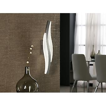 Schuller Sintra - Wall lamp, made of aluminium and chromed metal. Opal acrylic diffuser. LED 8,6W. 600 lm. 4000K - 697712