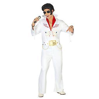 Mens King of Rock Elvis Fancy Dress Kostuum