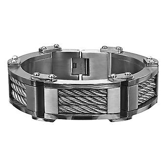 Stainless steel men's bracelet made of three cables