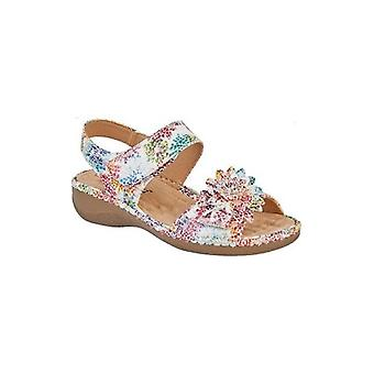 Boulevard Iris Ladies Touch Fasten Sandals Multi Floral