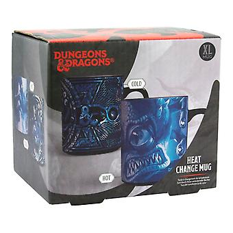 Dungeons and Dragons Black Ceramic Heat Sensitive Color Change Large Mug 550ml