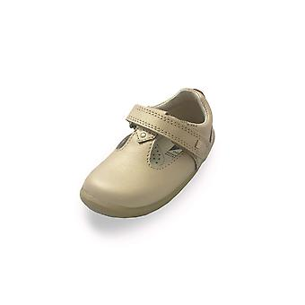 Bobux step up louise gold t-bar shoes