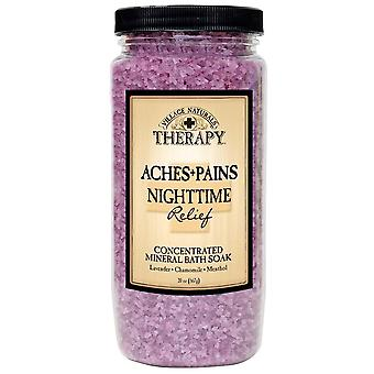 Village naturals therapy aches + pains nighttime relief bath soak, 20 oz