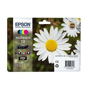 Originele inkt Cartridge Epson C13T18064010 Black gele Cyaan Magenta