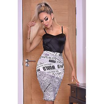 Misha Ivory Midi Skirt - Beige