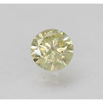 Cert 0.51 Ct Int Yellow SI2 Round Brilliant Enhanced Natural Diamond 5.11mm 3VG