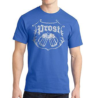 Cool Beer Prost Cheers Graphic Men's Royal Blue T-shirt