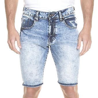 Polisen Batley 557 Denim Shorts - Blå/vit