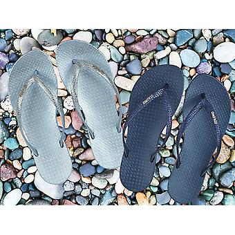 Coloko Freesia Snake Effect Glitter Ergonomic Footbed Flip-Flops