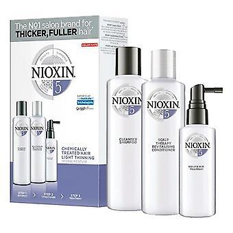 Unisex Hair Dressing Set System 5 Nioxin (3 pcs) Anti-fall Coloured hair