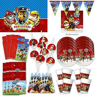Paw patrol party set XL 69-teilig for 6 guests paw patrol dog party birthday decoration party package