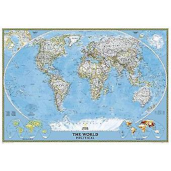 The World - Political - Enlarged by National Geographic Maps - 97807922