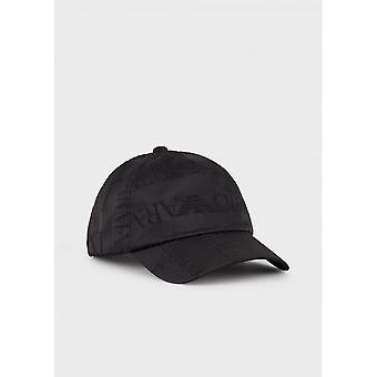 Emporio Armani Polyester Black Baseball Cap