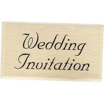 فن الطوابع الخشبية شنت ختم المطاط - دعوة الزفاف