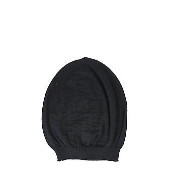 Rick Owens Ru20f3494kai09 Men's Black Wool Hat