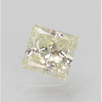 Certified 0.79 Carat I VS2 Princess Enhanced Natural Diamond 5.38x5.23mm 2EX