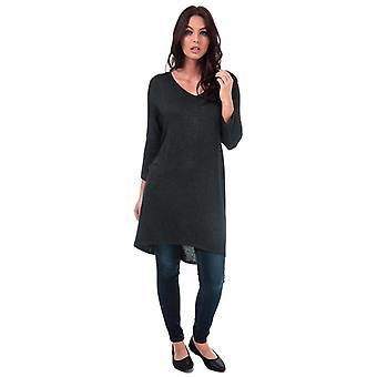 Femmes-apos;s Vero Moda Paya V-Neck Longline Jersey Top en noir