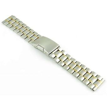 Strapsco watch bracelet to fit seiko oyster watch bracelet two tone