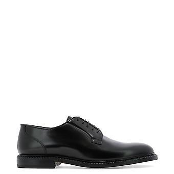 Fabi Fu7745nero Men's Black Leather Lace-up Shoes