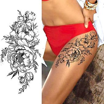 Water Transfer Temporary Fake Tattoo Stickers For Women - Body Chest Waist Wrist - Roses