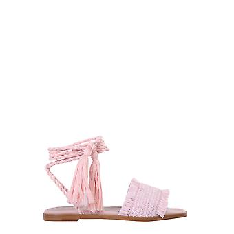 Red Valentino Tq0s0d72tdnn17 Women's Pink Canvas Sandals
