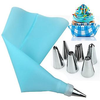 Stainless Steel Flower Cream Pastry Leaf Tips Nozzles Bag Cupcake Cake Decorating Tools