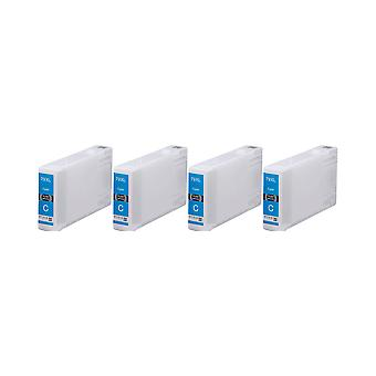 RudyTwos 4x Replacement for Epson T7892 Ink Unit Cyan (Extra High Yield) Compatible with Workforce Pro WF5190, WF 5190, WF5600 Series, WF 5600 Series, WF5620, WF5620DWF, WF5690, WF5690DWF