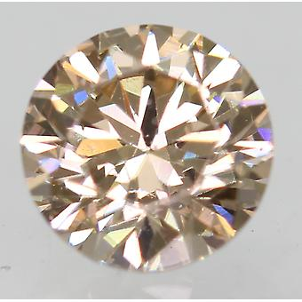 Cert 0.51 Carat Fancy Brown VVS1 Round Brilliant Natural Diamond 4.92mm 3VG