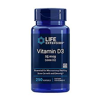 Vitamina D3 1000 UI 250 pérolas