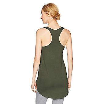 Marca - Mae Women's Loungewear Racerback Tank Top, Forest Green, Medium
