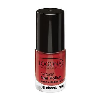 Natural nail polish n ° 03 classic red 4 ml (Red)