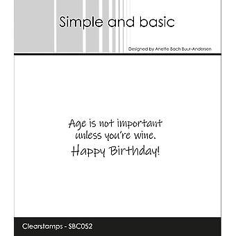 Enkel och grundläggande Clearstamp Ålder är inte viktigt