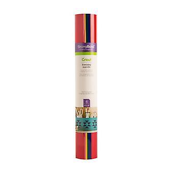 Cricut Everyday Iron-On Rainbow Sampler 12x12 Inch