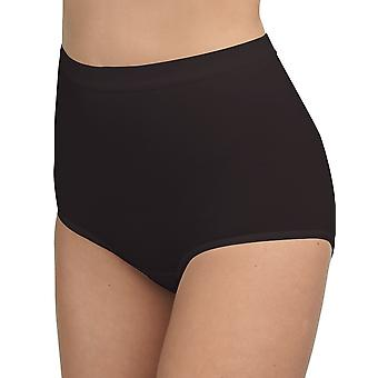 BlackSpade 1310 Women's Black Knickers Panty Brief 3 Pack