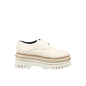Paloma Barceló Kusalatte Women's White Leather Lace-up Shoes