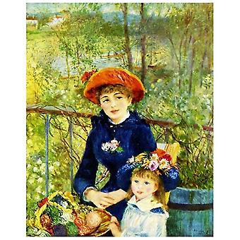 Print on canvas - On the Terrace - Pierre Auguste Renoir - Painting on Canvas, Wall Decoration