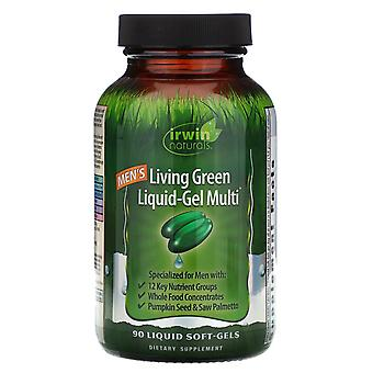 Irwin Naturals, Men's Living Green Liquid-Gel Multi, 90 Liquid Soft-Gels