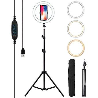 Selfie Flash LED Ring Light with 1.6M Tripod Stand Phone Camera Holder  - 160 cm