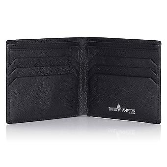 Black Malvern Leather Billfold Wallet