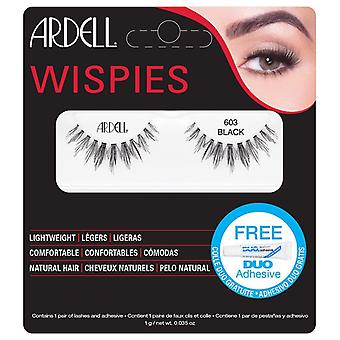 Ardell Wispies Cluster Vipper - 603 Sort - Natural Hair Falsies med DUO Lim