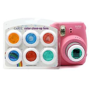 4pcs /5/6 Pcs Colorful Caméscope Close-up Colored Lens Filter For Polaroid