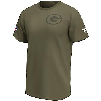 Green Bay Packers NFL Fan Shirt Iconic army green