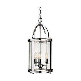 Firstlight Imperial - 3 Light Round Ceiling Pendentif Lantern Chrome, E14