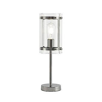 Luminosa Lighting - Table Lamp, 1 Light E27, Polished Chrome