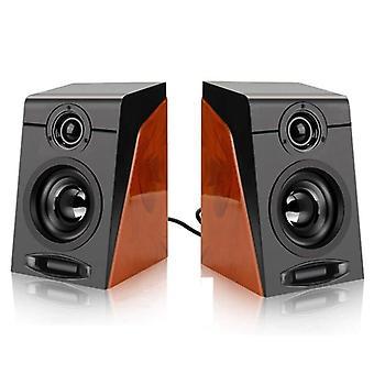 3wx2 Számítógép-hangszórók Surround-sztereó USB vezetékes tápellátással