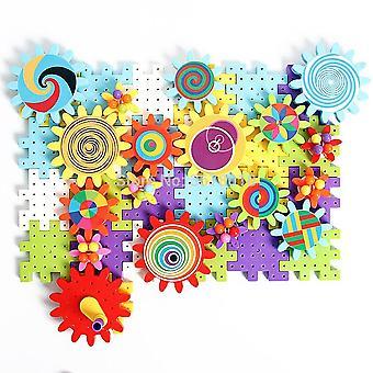 التروس بناء مجموعة مع فطر الفسيفساء الأظافر البناء عدة الألعاب التعليمية