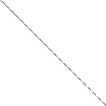 14 Καράτια Λευκό χρυσό Αστακός κλείσιμο 1.4 mm στερεό λάμψη κομμένα Spiga αλυσίδα κολιέ 15 ιντσών-3,9 γραμμάρια