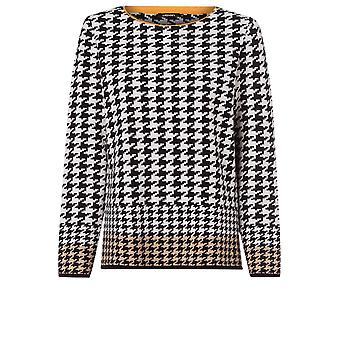 Olsen Houndstooth Check Jumper